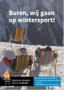 Wintercampagne: buren wij gaan op vakantie
